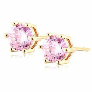 Other - Elegant 18K Gold Plated Pink Crystal Studs